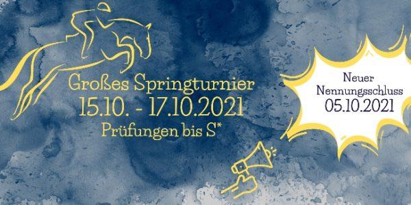 Großes Springturnier 15.10.-17.10.2021 – Reit- und Fahrverein Vreden e.V.